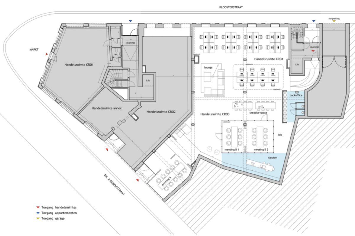 Kantoorruimte beschikbaar op Markt Zele